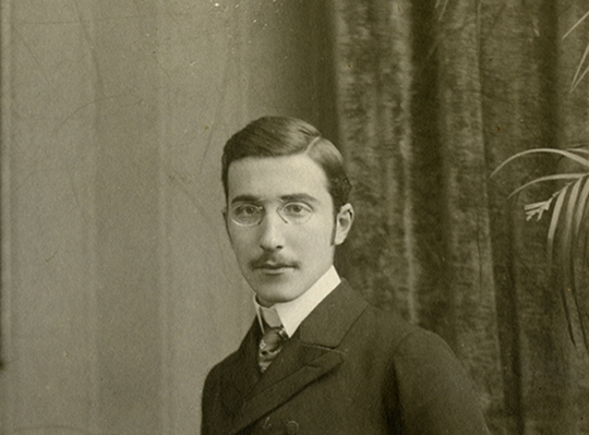 A young Stefan Zweig, around 19 years old, circa 1900 – Source.