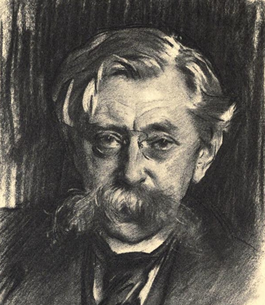 Portrait of Émile Verhaeren in 1915 by John Singer Sargent – Source.