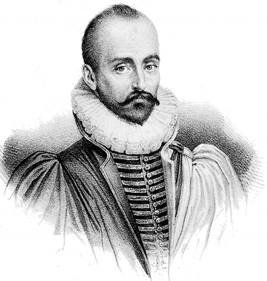 Portrait of the 16th century essayist Michel de Montaigne – Source.